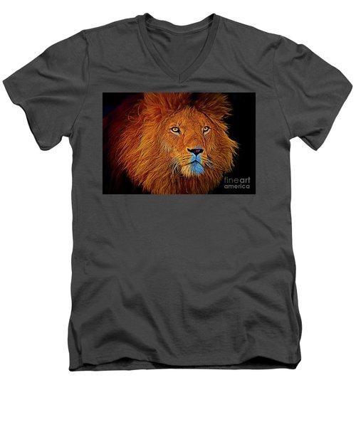 Lion 16218 Men's V-Neck T-Shirt