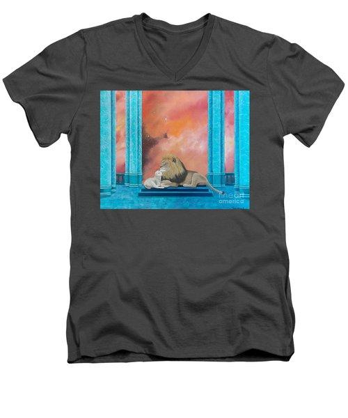 Lion And Lamb Men's V-Neck T-Shirt