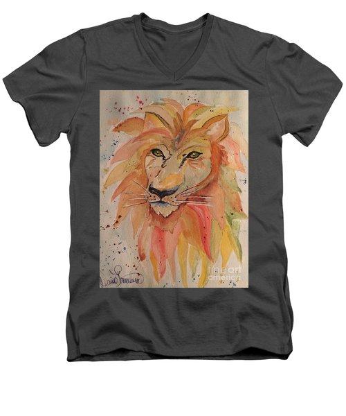 Lion Men's V-Neck T-Shirt