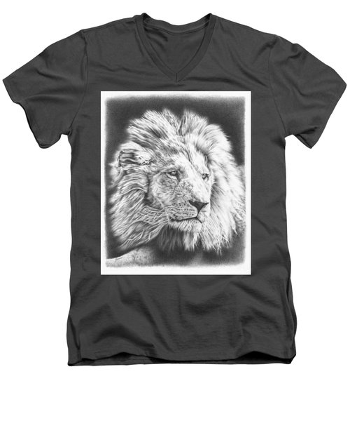 Fluffy Lion Men's V-Neck T-Shirt