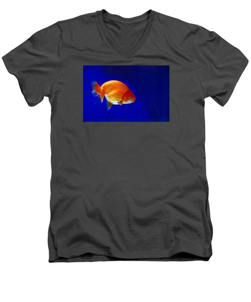 Lion Head Goldfish 6 Men's V-Neck T-Shirt