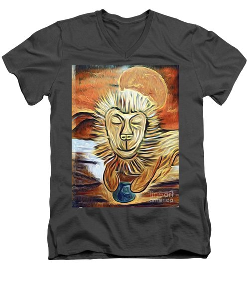 Lion Of Judah II Men's V-Neck T-Shirt