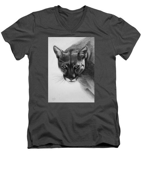 Lion Of The Andes Men's V-Neck T-Shirt by Vishvesh Tadsare
