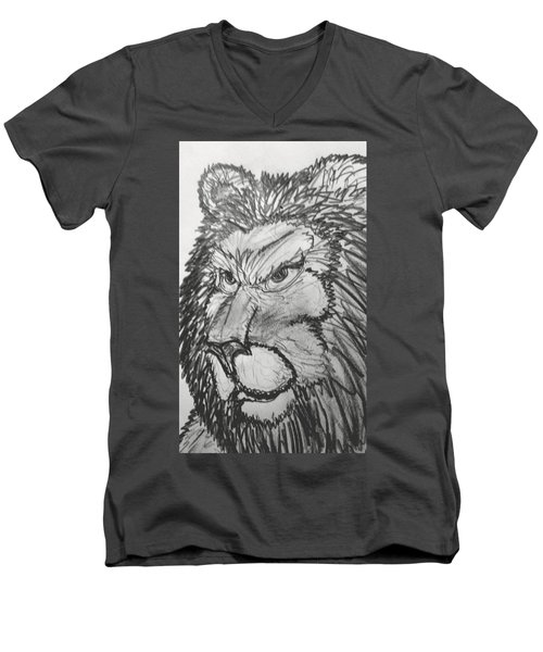 Lion Sketch  Men's V-Neck T-Shirt