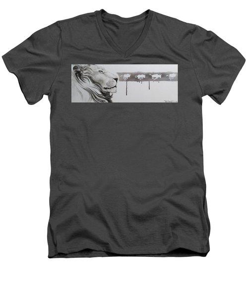 Lion Tears Men's V-Neck T-Shirt