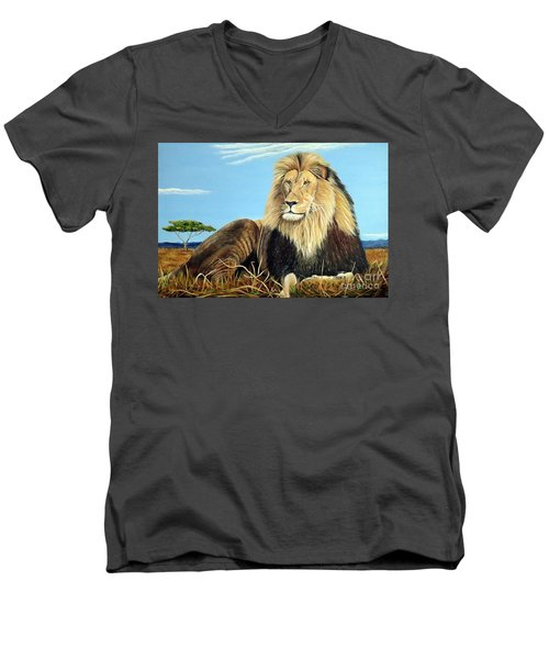 Lions Pride Men's V-Neck T-Shirt