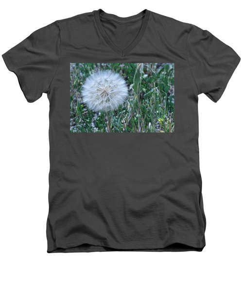 Men's V-Neck T-Shirt featuring the photograph Lion's Tooth by Mary Mikawoz