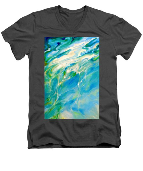 Liquid Assets Men's V-Neck T-Shirt by Dina Dargo