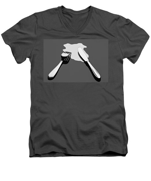 Men's V-Neck T-Shirt featuring the photograph Liquid Food by Gert Lavsen