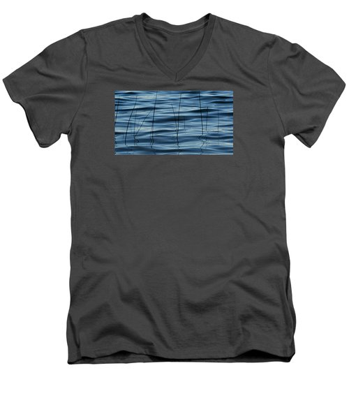 Men's V-Neck T-Shirt featuring the photograph Liquid Reflections  by Lyle Crump
