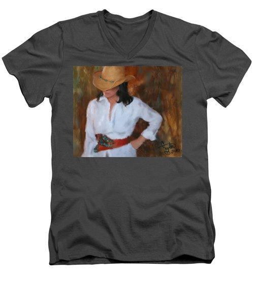 Liquid Turquoise Men's V-Neck T-Shirt