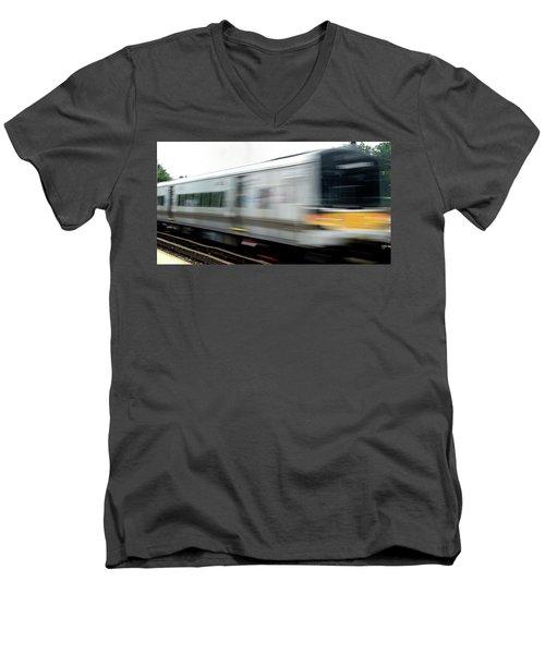 Lirr East Bound Men's V-Neck T-Shirt