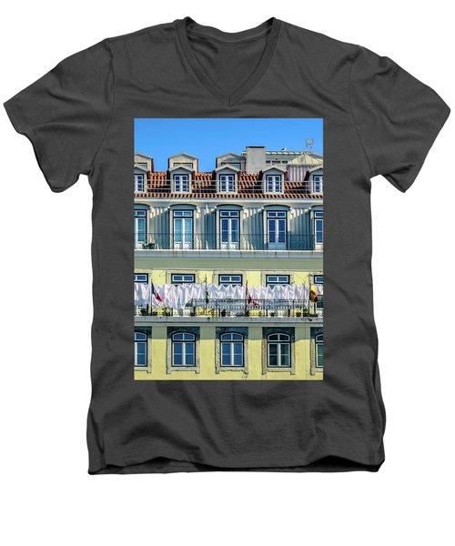 Lisbon Laundry Men's V-Neck T-Shirt by Marion McCristall