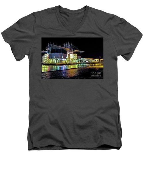 Lisbon - Portugal - Oceanarium At Night Men's V-Neck T-Shirt
