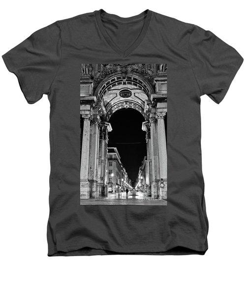 Lisbon - Portugal - Triumphal Arch - Rua Augusta Men's V-Neck T-Shirt