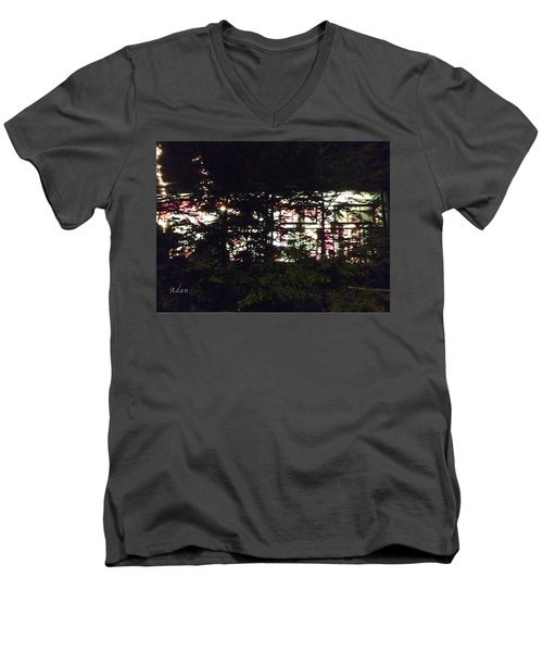 Lit Like Stained Glass Men's V-Neck T-Shirt by Felipe Adan Lerma