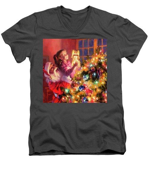 Little Angel Bright Men's V-Neck T-Shirt