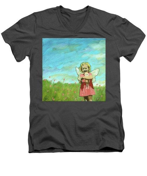Little Angel Men's V-Neck T-Shirt
