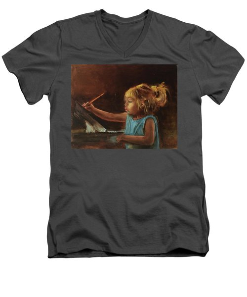 Little Artist Men's V-Neck T-Shirt
