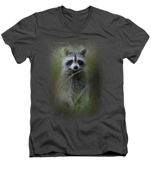Little Bandit Men's V-Neck T-Shirt by Jai Johnson