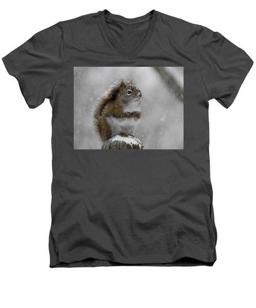 Little Begger Men's V-Neck T-Shirt by Betty-Anne McDonald