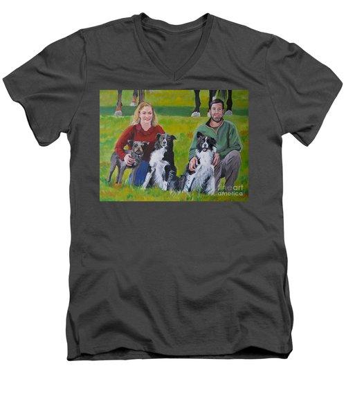 Little Bit's New Family Men's V-Neck T-Shirt