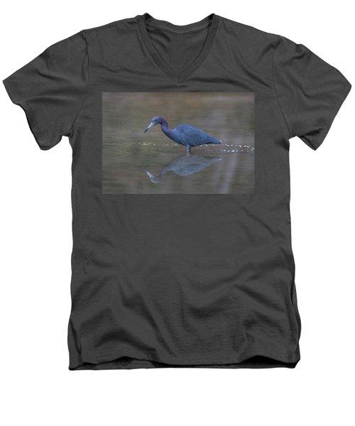 Little Blue Bubbles Men's V-Neck T-Shirt