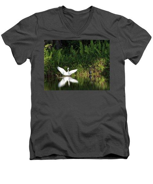 Little Blue Heron Non-impressed Men's V-Neck T-Shirt