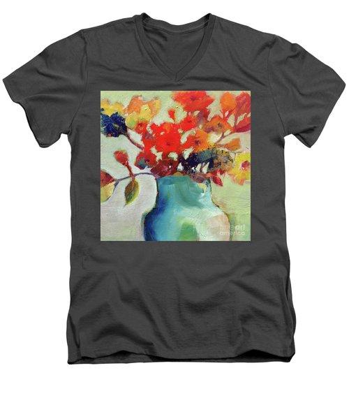 Little Bouquet Men's V-Neck T-Shirt by Michelle Abrams
