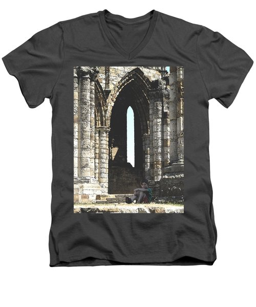 Little Boy Under The Arch Men's V-Neck T-Shirt
