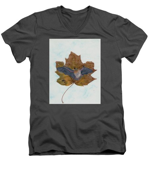 Little Brown Bat Men's V-Neck T-Shirt