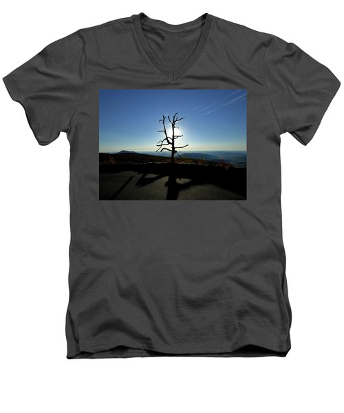 Men's V-Neck T-Shirt featuring the photograph Little Devil Stairs Overlook by Robert Geary