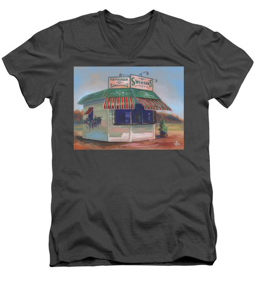 Little Drive-in On South Hawkins Ave Men's V-Neck T-Shirt