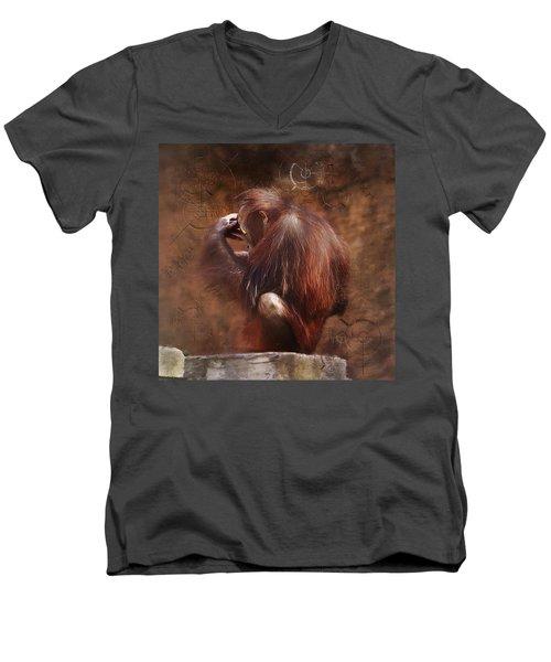 Little Einstein Men's V-Neck T-Shirt by Sharon Jones