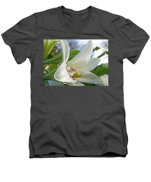 Little Field Mouse Men's V-Neck T-Shirt