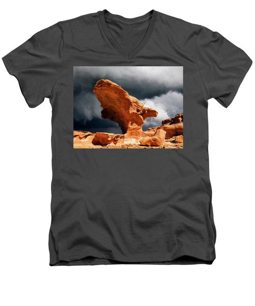 Men's V-Neck T-Shirt featuring the photograph Little Finland Nevada 8 by Bob Christopher