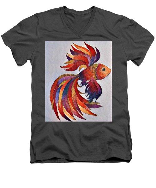 Little Fish Men's V-Neck T-Shirt by Megan Walsh