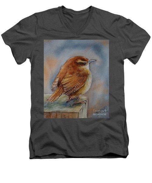 Little Friend Men's V-Neck T-Shirt by Patricia Pushaw
