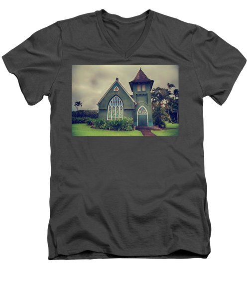 Little Green Church Men's V-Neck T-Shirt