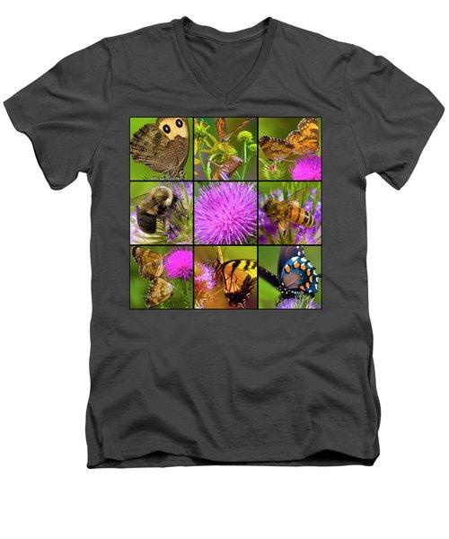 Little Guys  Men's V-Neck T-Shirt by Betsy Knapp