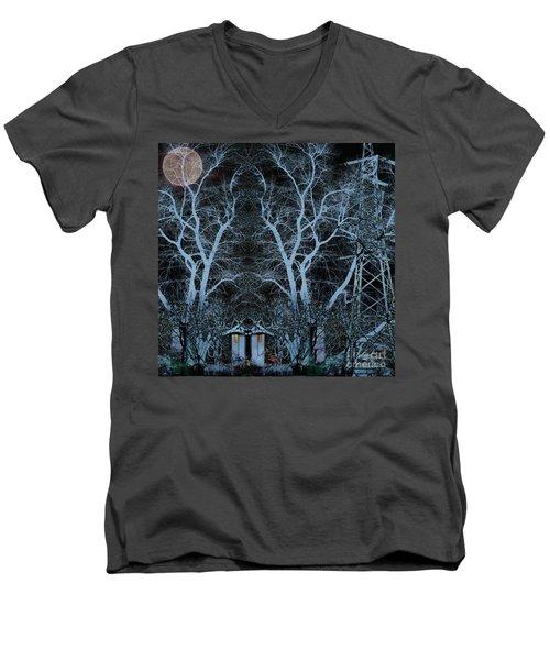 Little House In The Woods Men's V-Neck T-Shirt