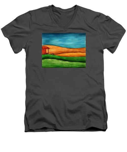 Little House On Hill Men's V-Neck T-Shirt