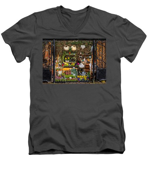 Men's V-Neck T-Shirt featuring the photograph Little Market by Nick Bywater