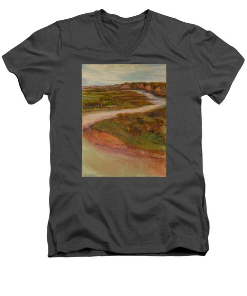 Little Missouri Overlook  Men's V-Neck T-Shirt