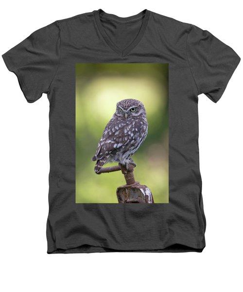 Little Owl Pipe Bender Men's V-Neck T-Shirt