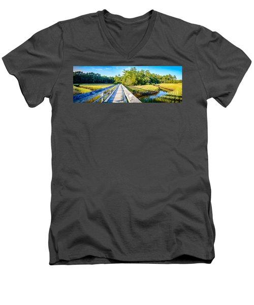 Little River Marsh Men's V-Neck T-Shirt