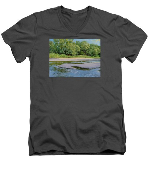 Little Sioux Sandbar Men's V-Neck T-Shirt