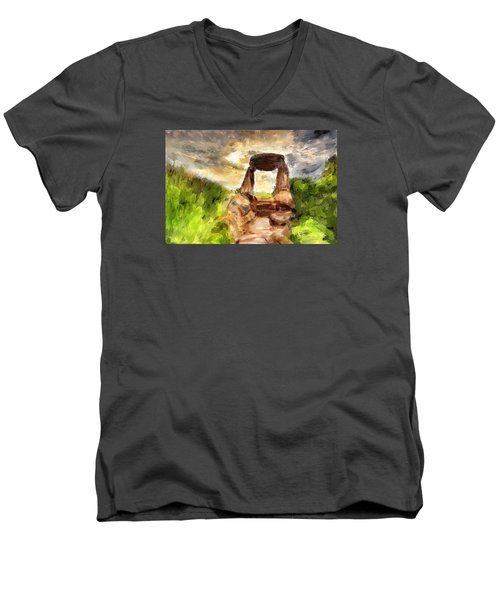 Little Stonehenge Men's V-Neck T-Shirt