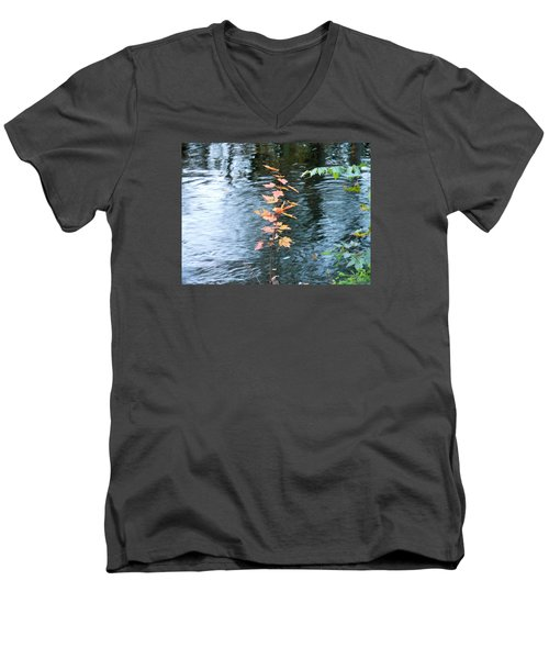 Men's V-Neck T-Shirt featuring the photograph Little Tree by Kay Gilley