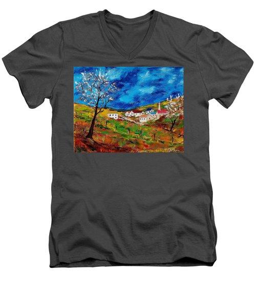Little Village Men's V-Neck T-Shirt